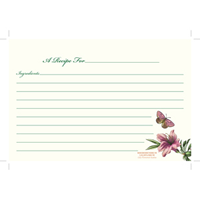 Botanic Garden Recipe Cards