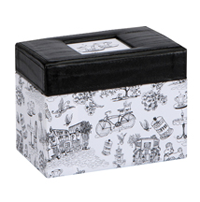 Cafe Toile Recipe Box