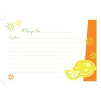 Lemon Twist Garden Recipe Cards