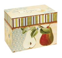 Vintage Fruit Recipe Box